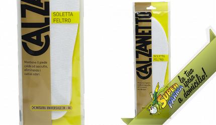 """SOLETTA ANTIODORE in """"Feltro"""" 1 paio – Calzanetto"""