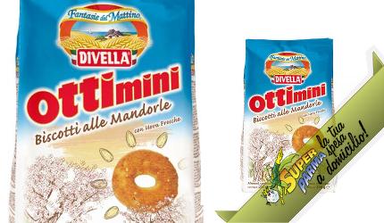 """FROLLINI """"Ottimini"""" alle Mandorle 350 g – Divella"""