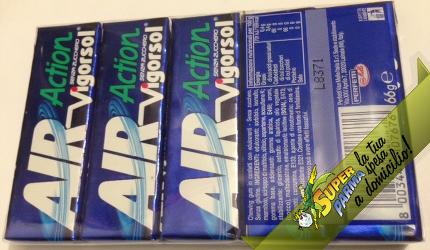 """GOMME DA MASTICARE Vigorsol """"Air Action"""" Menta 13 g x 5 pacchetti – Perfetti"""