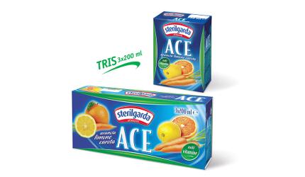 """SUCCO DI FRUTTA """"Ace"""" 3 x 200 ml - Sterilgarda"""