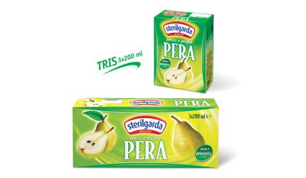 """SUCCO DI FRUTTA """"Pera"""" 3 x 200 ml - Sterilgarda"""