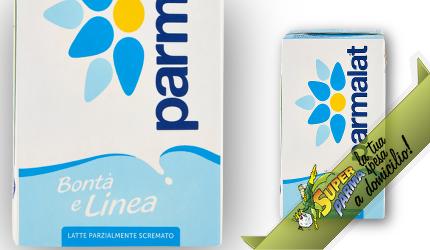 """LATTE UHT in """"Cartone"""" Parzialmente Scremato 1000 ml - Parmalat"""