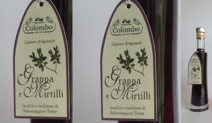 GRAPPA ai MIRTILLI bottiglia da 20 cl – Colombo