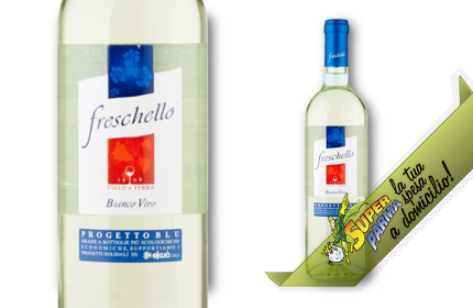 """VINO BIANCO """"Freschello"""" 750 ml - Cielo e Terra"""