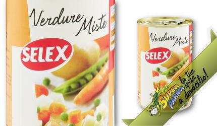VERDURE MISTE in scatola 400 g – Selex