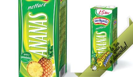 """SUCCO DI FRUTTA """"Ananas"""" 1,5 L – Sterilgarda"""