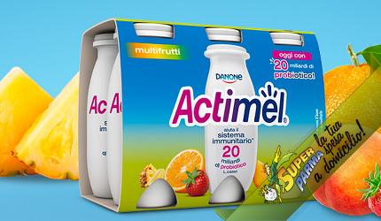 "ACTIMEL ""MultiFrutta"" 6 x 100 g – Danone"