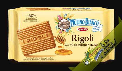 """BISCOTTI """"Rigoli"""" con miele millefiori italiano 800 g – Mulino Bianco"""