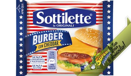 """SOTTILETTE burger """"con cheddar"""" 185 g – Mondelez"""