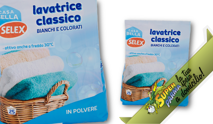 DETERSIVO LAVATRICE in polvere 25 Lavaggi 1625 g – Selex