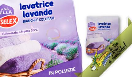 "DETERSIVO LAVATRICE in polvere ""Lavanda"" 18 Lavaggi 1170 g – Selex"