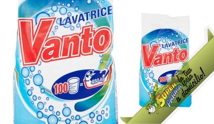 DETERSIVO LAVATRICE in polvere 100 Lavaggi 7,5 kg – Vanto