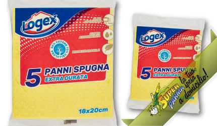 """PANNI SPUGNA """"Extra Durata"""" 18×20 cm (5 pezzi) – Logex"""