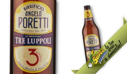 """BIRRA """"3 Luppoli"""" bott. vetro 66 cl – Poretti"""