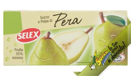 """SUCCO e POLPA di """"Pera"""" 3 x 200 ml – Selex"""