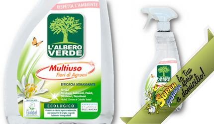 """DETERGENTE MULTIUSO """"Fiori di Agrumi"""" ECOLOGICO 740 ml – Albero Verde"""