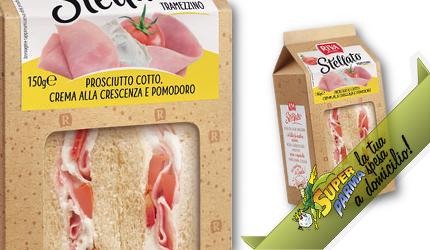 """TRAMEZZINI """"Stellato"""" pr.Cotto-Crescenza-Pomodoro 150 g – Riva"""