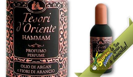 """PROFUMO AROMATICO """"Hammam"""" Olio di Argan e Fiori di Arancio 100 ml – Tesori D'Oriente"""