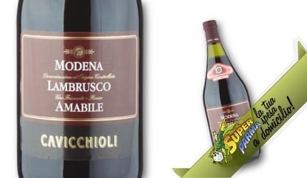 """VINO ROSSO Lambrusco di Modena """"Amabile"""" 1,5 L – Cavicchioli"""