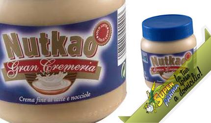 """CREMA al """"LATTE e NOCCIOLE"""" 350 g – Nutkao"""