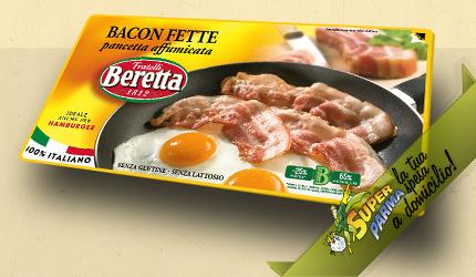 """BACON/PANCETTA """"affumicata"""" A FETTE 100 g – Beretta"""