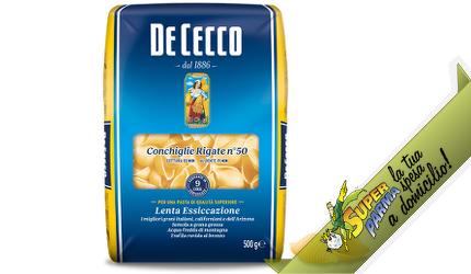 """CONCHIGLIE RIGATE """"n°50"""" 500 g – De Cecco"""