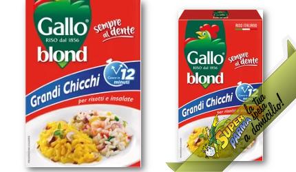 """RISO """"Blond"""" GRANDI CHICCHI risotti e insalate 1 kg – Gallo"""