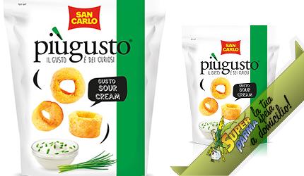 """PATATINE """"Più Gusto"""" SOUR CREAM 80 g – San Carlo"""