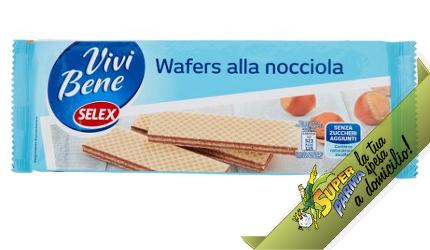 """WAFER alla Nocciola """"Vivi Bene"""" Senza Zuccheri Aggiunti 175 g – Selex"""