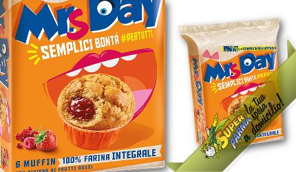 """MUFFIN farina INTEGRALE con """"Frutti Rossi"""" 300 g – Mr. Day°"""
