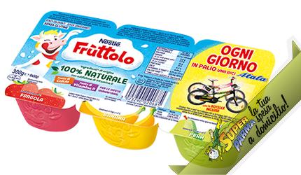 """FRUTTOLO """"Pera-Banana-Fragola"""" 6 x 50 g – Nestle°"""