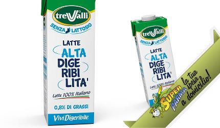"LATTE SENZA LATTOSIO uht ""Alta Digeribilità VIVIDIGERIBILE"" 1000 ml – Tre Valli"