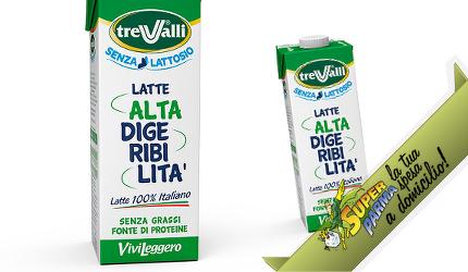 """LATTE SENZA LATTOSIO uht """"Alta Digeribilità VIVILEGGERO"""" 0,1% GRASSI 1000 ml – Tre Valli"""